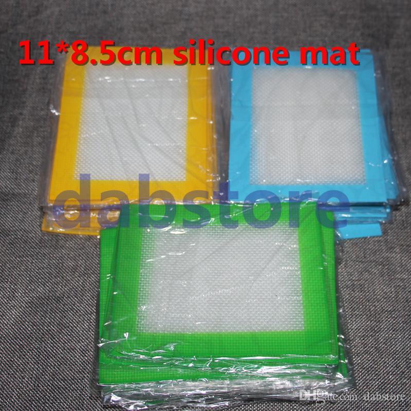 Venda quente 14 * 11.5 cm tapete de silicone, almofada de silicone antiaderente dab cera de óleo de cera frete grátis