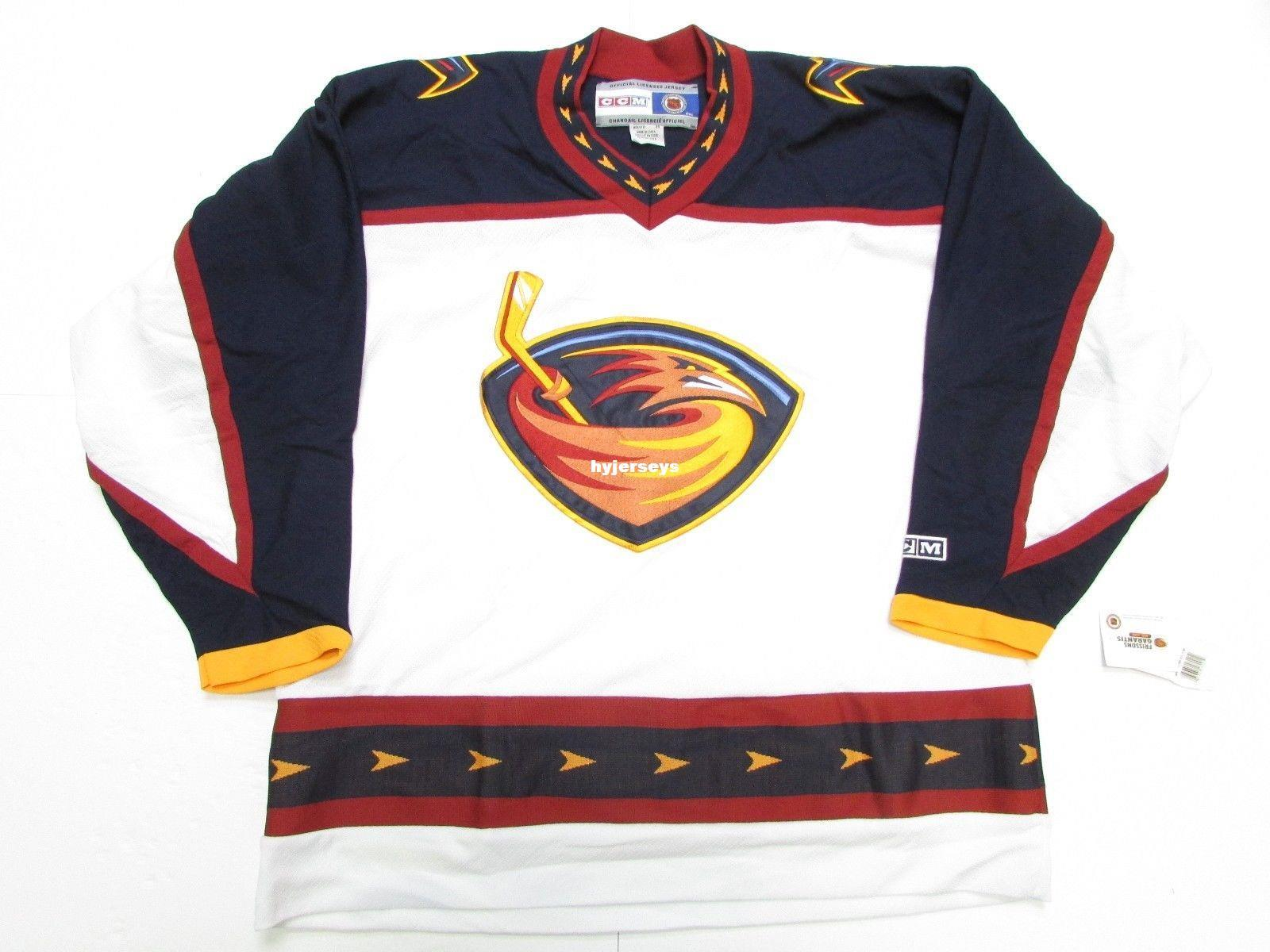 Cheap Custom ATLANTA THRASHERS VINTAGE CCM HOCKEY JERSEY DAMAGED Mens  Jerseys CCM Hockey Jersey Hockey Jersey Retro Hockey Jersey Online with   65.09 Piece ... 5e0ed04eb93