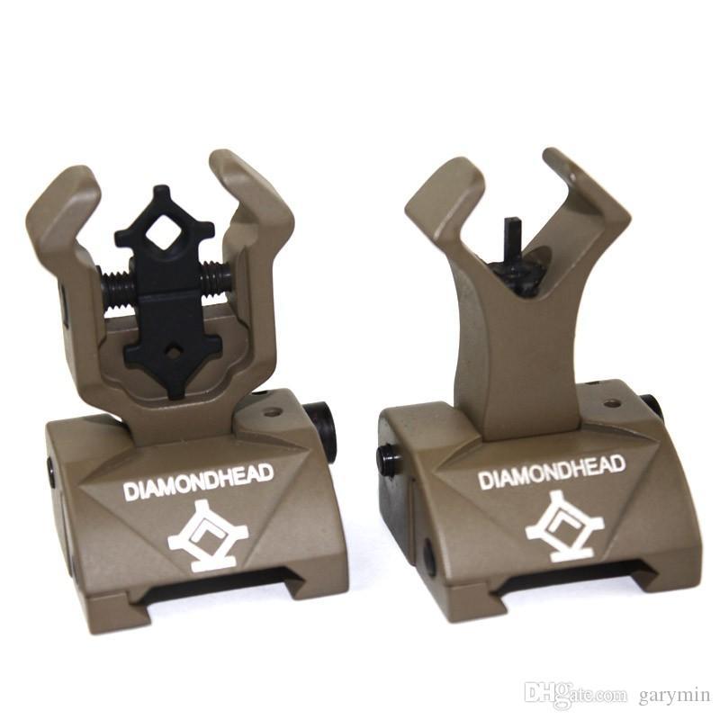 Diamondhead الماس Flip-up قابلة للطي البصر الخلفي الأسود / الرمال HT084