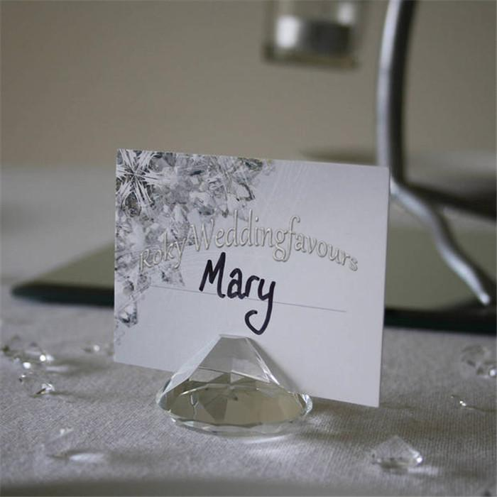 Quality Crystal Diamond Place Card Holder Wedding Favors Party Table