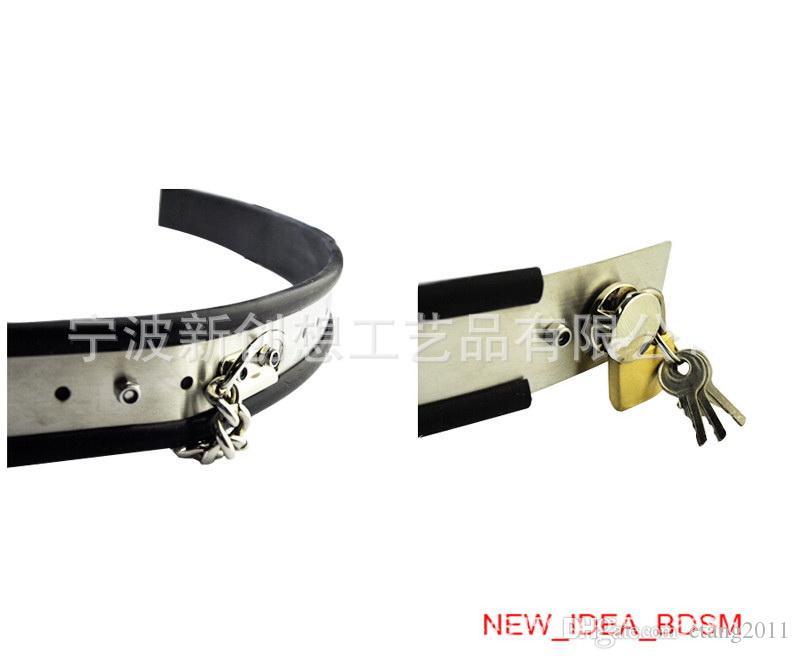 Bdsm sm sex toys donna Cintura di castità regolabile in acciaio inox tipo Y con una cover di chiusura rimovibile