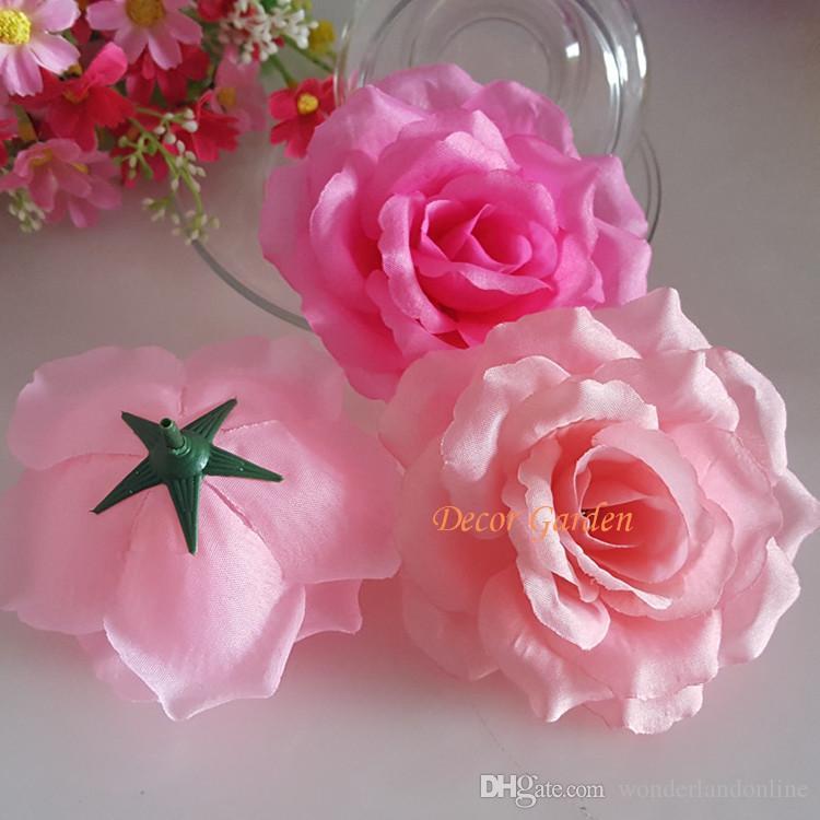 10CM Silk Rose Artificial Flower Heads High Quality Diy Flower For Wedding Wall Arch Bouquet Decoration Flowers