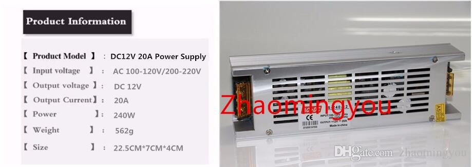 Brand New Mini Taille Led Alimentation 12V 5A 8.5A 10A 12.5A 15A 20A Haute Qualité 110V 220VAC Entrée 12VDC Transformateur De Sortie