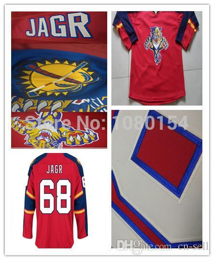 627d008fc 2019 Cheap 2015 Men'S Florida Panthers #68 Jaromir Jagr Jersey Red Lacing V  Neck All Stitched Jagr Ice Hockey Jerseys Best Quality From Cn Sell, ...