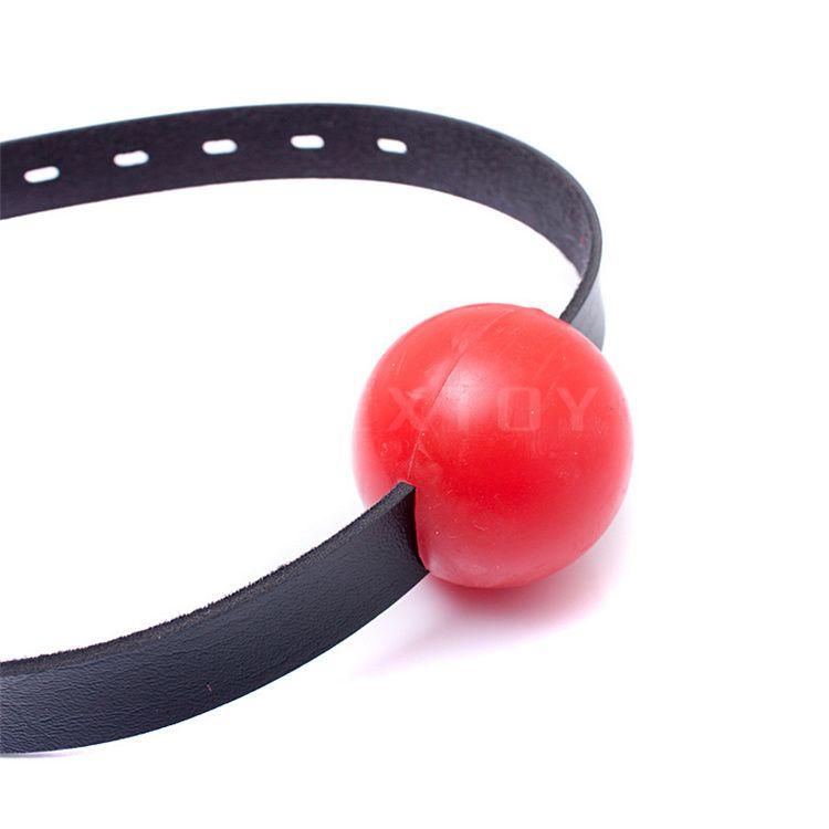 Harness Gag Bondage Head Harness with Red soft ordinary silica gel mouth ball plug 4.2CM ball