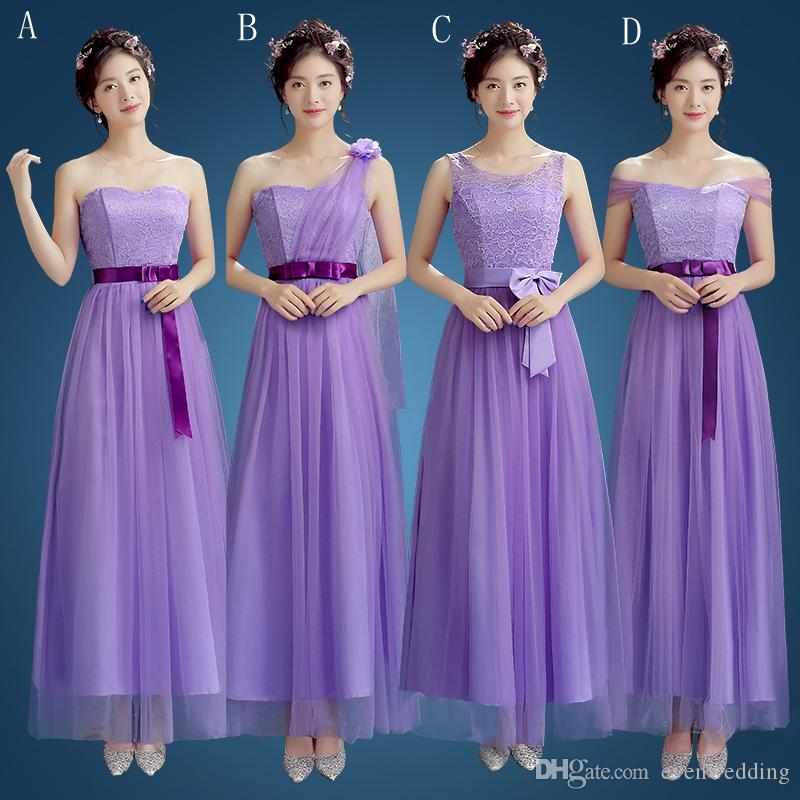 Soft Tulle A Line Bridesmaid Dresses With Lace Sky Blue Champagne ...
