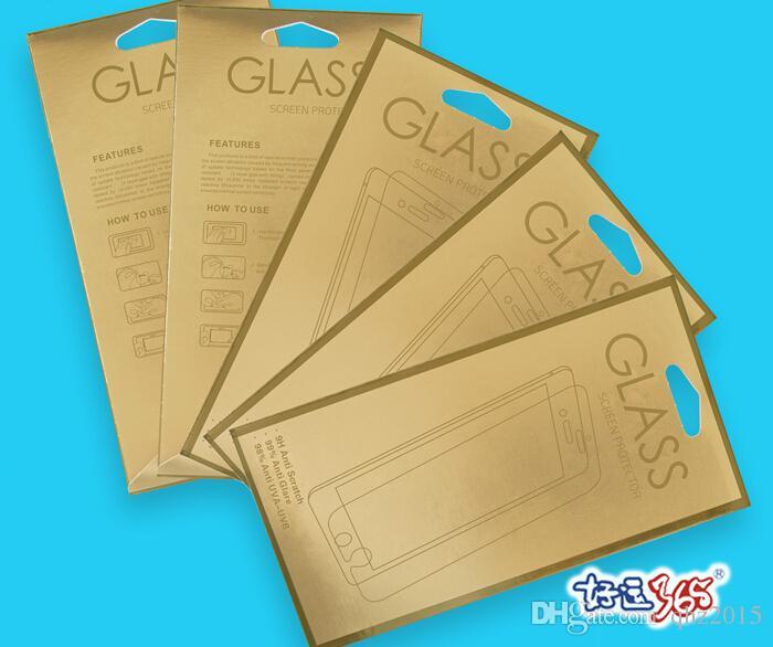 강화 유리 화면 보호기 플러스 아이폰 6 6 초 500 개 종이 소매 패키지 포장 상자