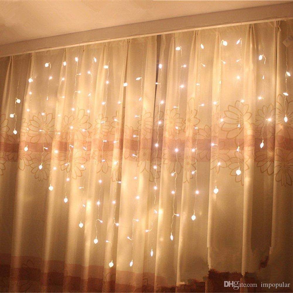 newest collection e5744 78f14 IMPopular Romantic LED Heart Shaped String Curtain Lights ,2m*1.5m 8 Modes  Heart Shape String Fairy Lights For Bedroom Wedding Christmas Outside ...