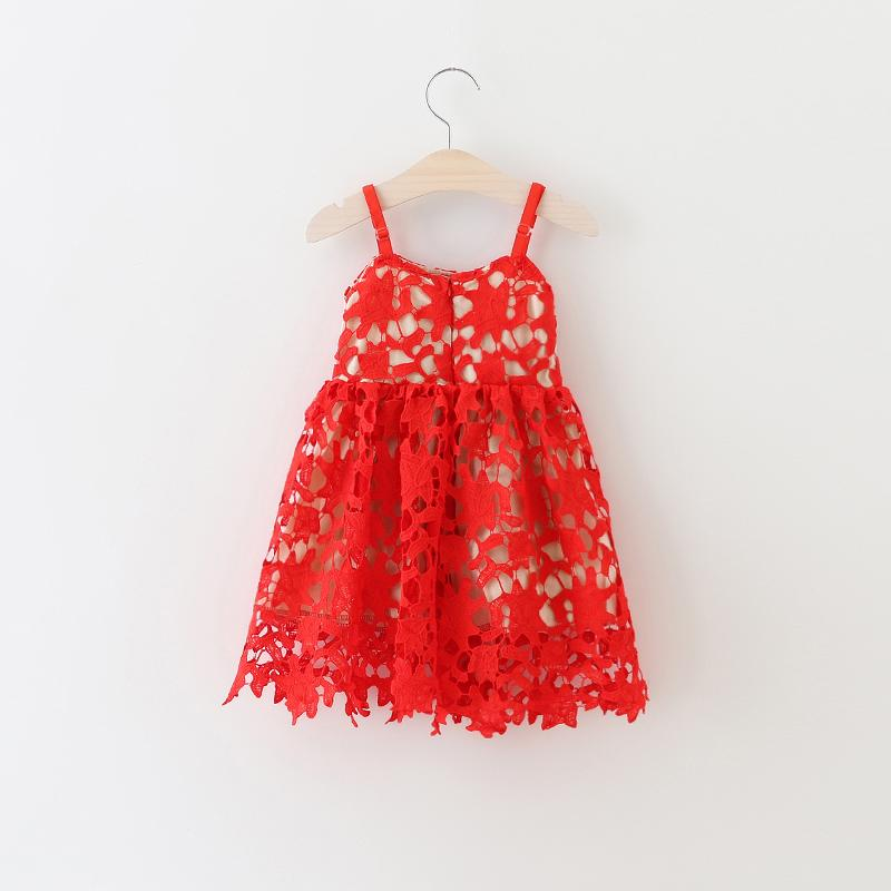 b9ed97e7a68 2019 Wholesale New Kids Girls Floral Lace Tutu Dress Summer Halter Princess  Red Party Dress Western Cute Dress Wholesale From Sophine14