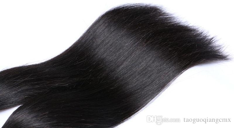 Brazilian Straight Hair Weave hot sale Cheap 3 4 Unprocessed Chinese Human hair Weft 7A Great Quality Human Hair Extensions DHgate