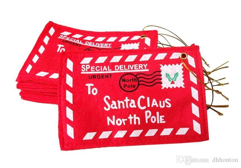 Noel zarfı şeker hediye çanta Yaratıcı noel dekorasyon ürünleri Noel Para Kartı Tutucu Hediye Kartı Kutusu FP04