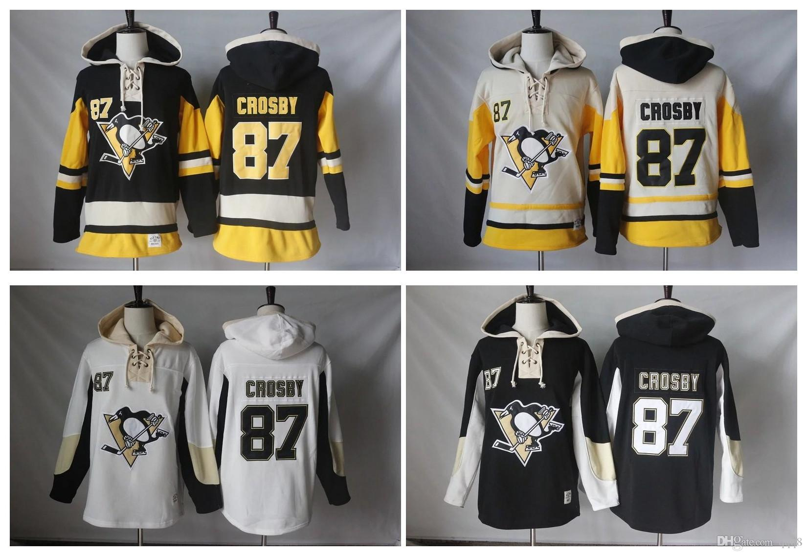 5c4f0a3d9 High Quality ! 2016 New Old Time Hockey Jerseys Pittsburgh Penguins 87  Sidney Crosby Hoodie Pullover Sports Sweatshirts Winter Jacket Detroit Red  Wings ...
