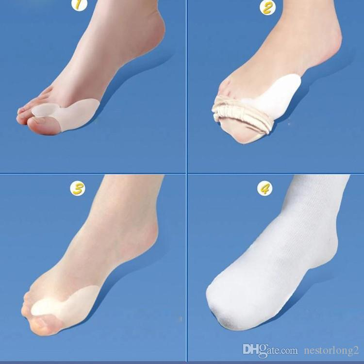feet care special hallux valgus bicyclic thumb orthopedic braces daily silicone toe spreader corrector juanete foot care tool