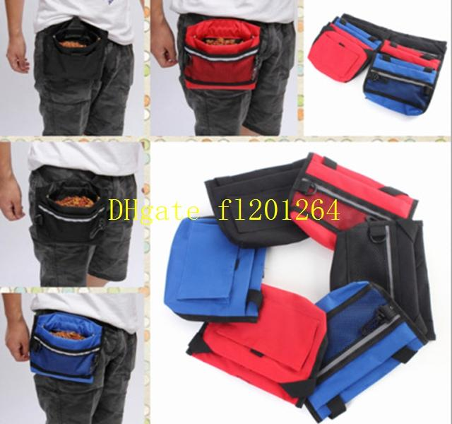 Pet Dog Treat Bait Waist Pouch Puppy Reward Based Training Bag with Buckle Belt