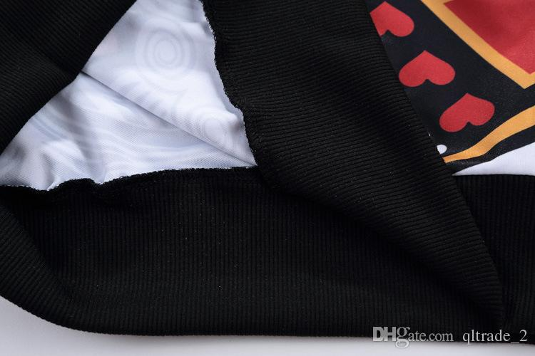 С длинными рукавами свитер poker king hearts 3D мужские повседневные кофты спортивные толстовка печати мужские пуловеры с длинными рукавами