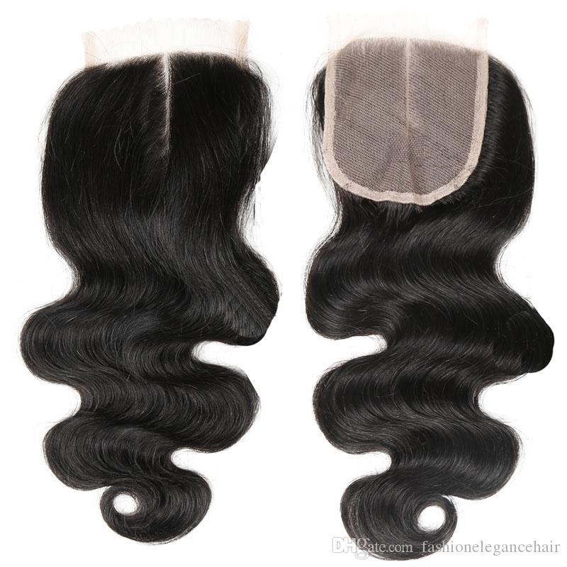 Бразильская объемная волна 7A с закрытием 3 пачки соткут уток человеческих волос с закрытием Unprocessed бразильские Виргинские волосы с закрытием