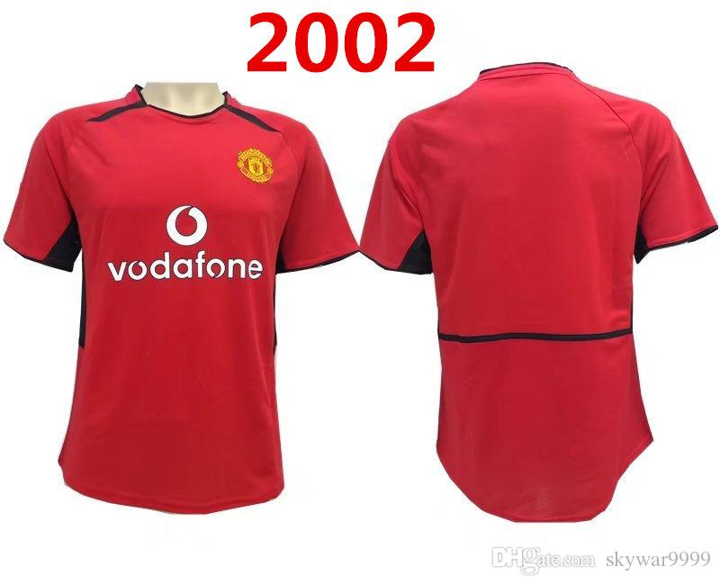 save off 75ae2 12bbb top quality 2001-2002 man United Retro Home away 01-02 Giggs, Scholes,  Beckham, Neville soccer jersey best quality shirt Free shipping