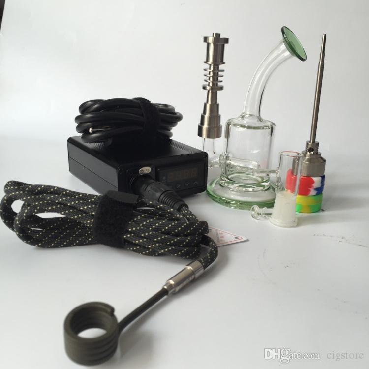 Portable eNail Vaporizer Kit Wax dry herb vape Pen Herbal vapor bong electric dab e cigarettes Nail bongs Kits