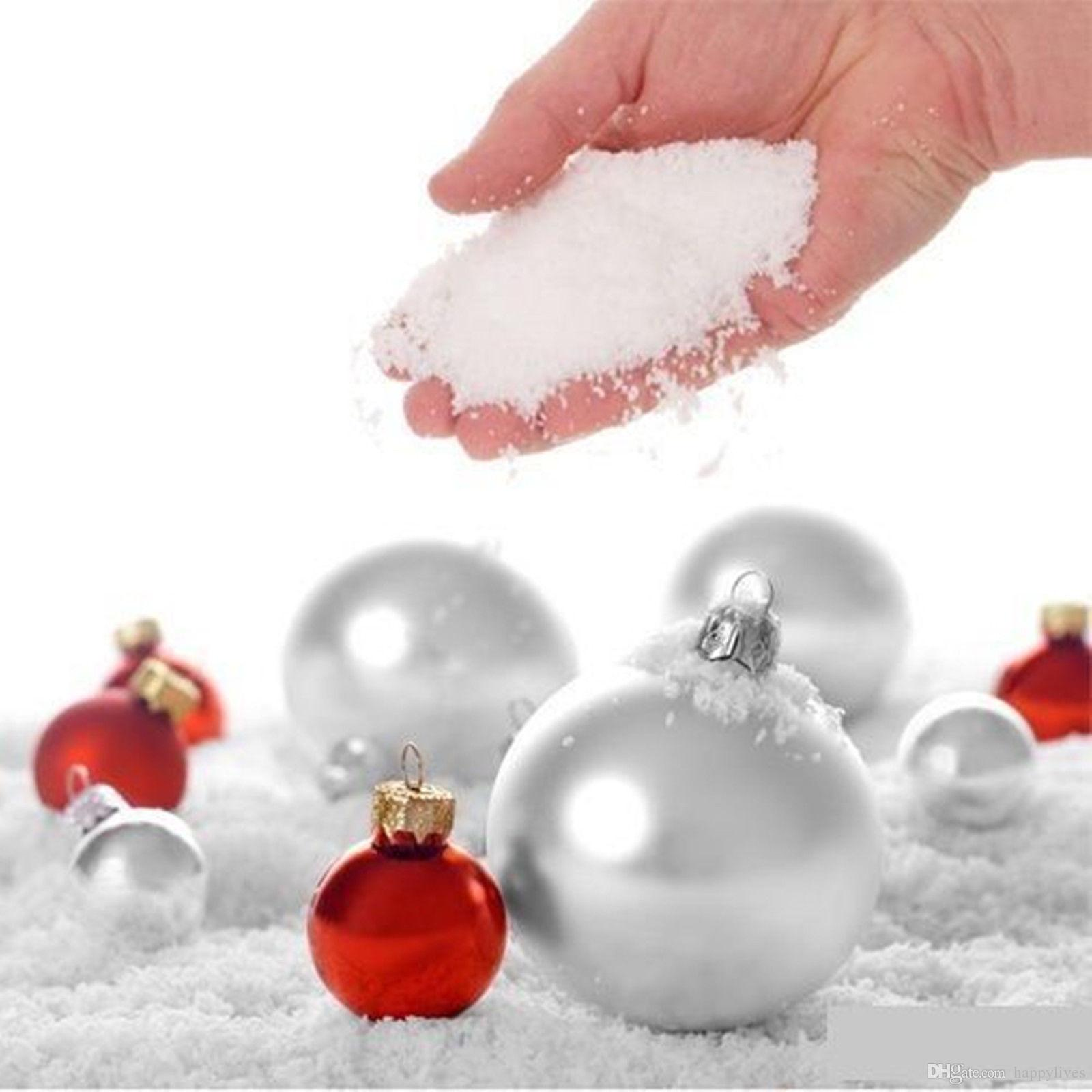 Christmas Ornaments Christmas Decorations Snow 30g Instant Snowflake ...