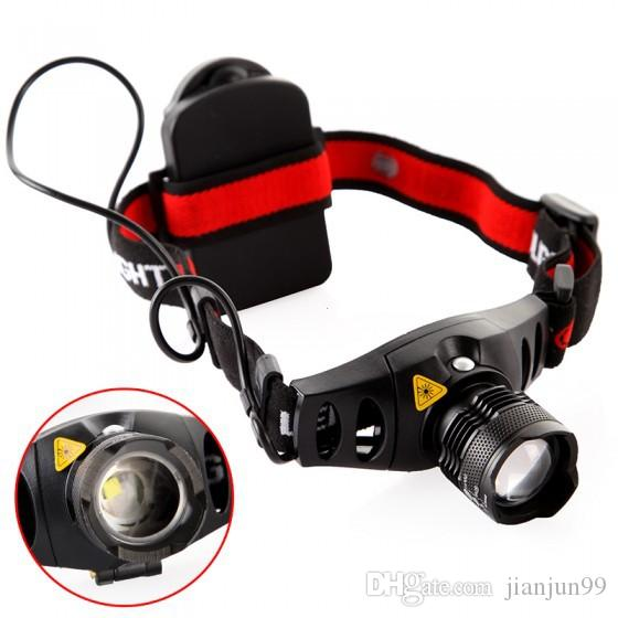 Zoomable 500LM LED Headlamp CREE Q5 Headlight Zoom In/ Out Adjustable Focus Light for Bicycle Hunting Camping Outdoor Lighting