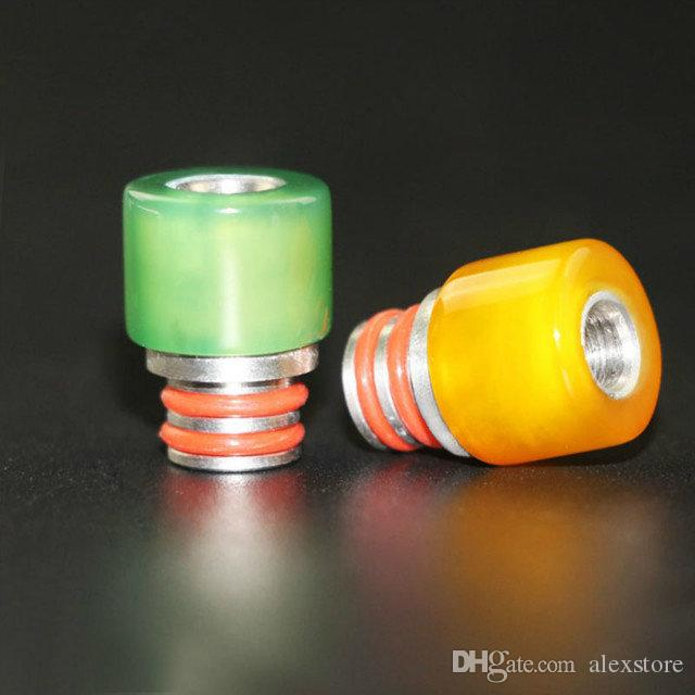 Pyrex Glass Agate Stainless Steel 510 SS Drip Tips Beautiful Vase Shape Colorful Mouthpiece Long Short Drip Tip for RDA Atomizer Tank Vapor