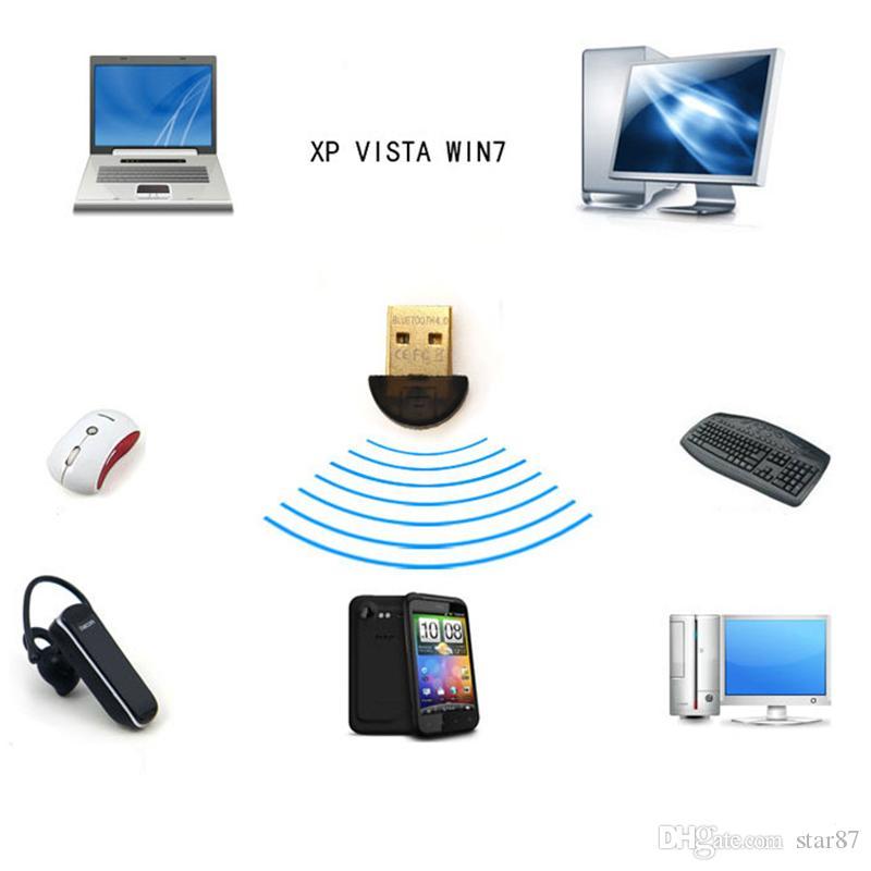 Часть csr4.0 USB-адаптер Bluetooth Dongle для портативных ПК стерео высокий низкий уровень энергии USB адаптер