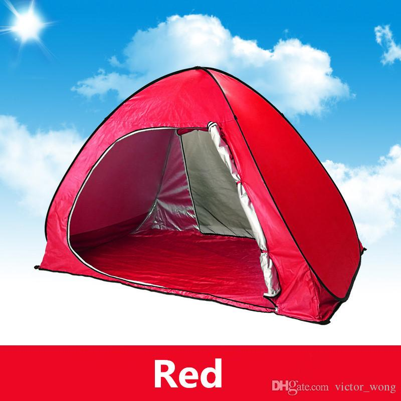 SimpleTents Family Tents for Camping Quick Automatic Opening Tents Outdoors UV Protection SPF 50+ Tent for Beach Travel Lawn 2-3 People
