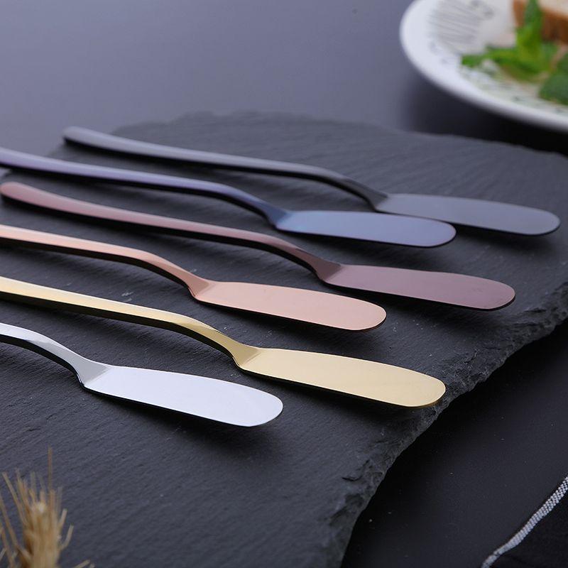 جميع الفولاذ المقاوم للصدأ زبدة سكين متعدد الأغراض 304 الفولاذ المقاوم للصدأ زبدة سكين مربى كعكة سكين مربى زبدة كعكة ملعقة لوازم المطبخ المنزل