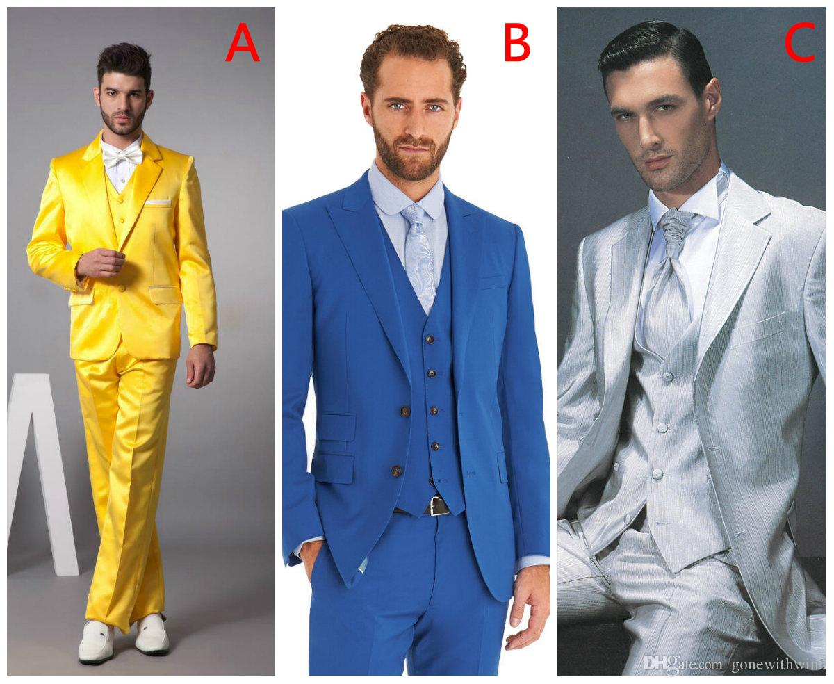 new arrival prom suits 2016 men wedding suits wedding prom tuxedos ...