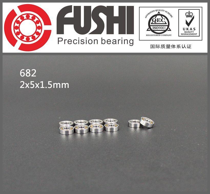 2x5x1.5 mm 682 4 PCS Metal OPEN PRECISION Ball Bearing Set 2*5*1.5