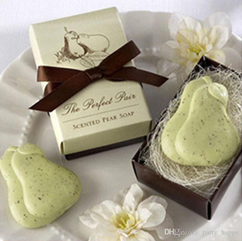 Creativa forma de Jabón de pato Orgánico amor de la caída de la boda favorece regalos creativos Mini jabón de baño jabón de limpieza conjunto de regalo