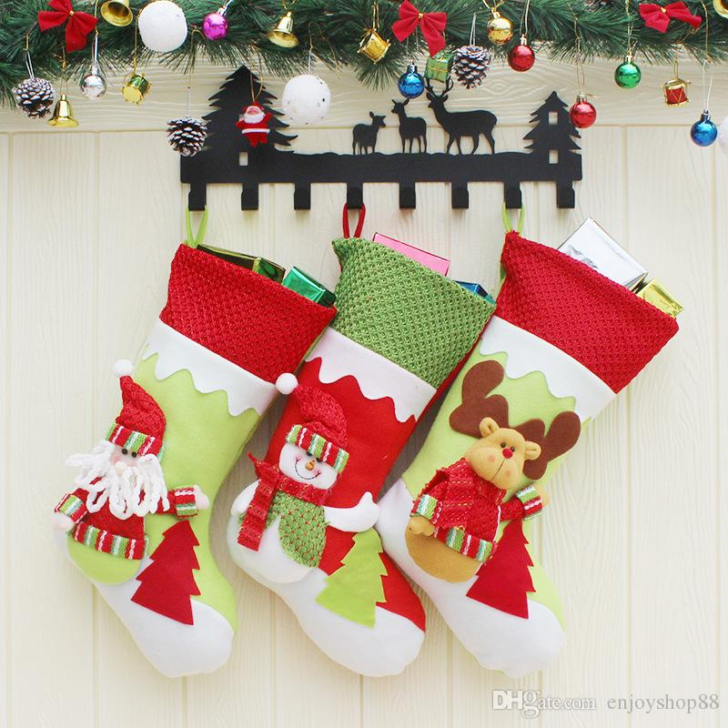 best christmas stockings decor ornaments decorations santa reindeer snowman christmas stocking candy socks bags christmas gifts under 352 dhgatecom