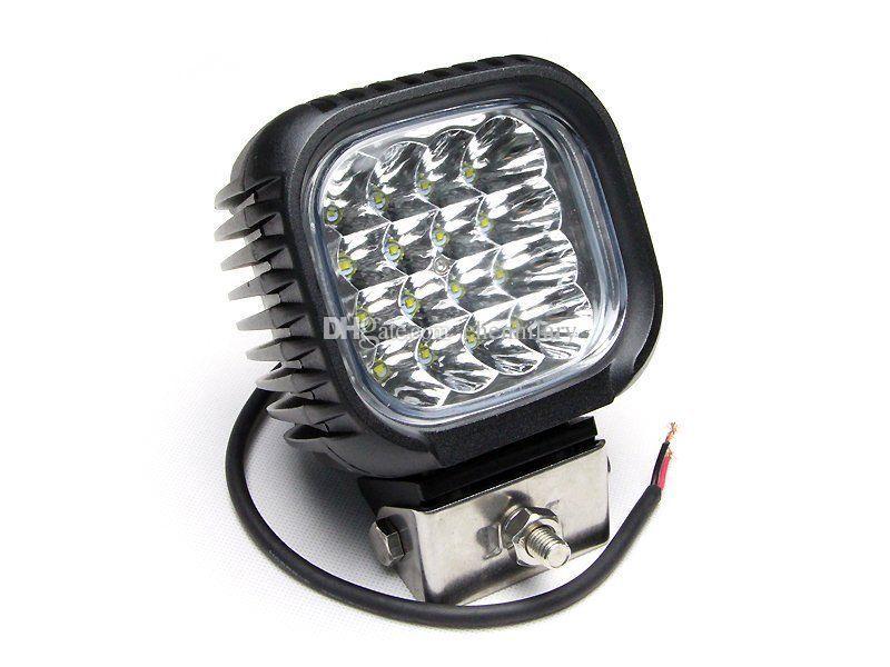 4 stücke 5 zoll 48 Watt 16x3 Watt LED Arbeitsscheinwerfer Scheinwerfer Offroad Fahren Nebelscheinwerfer Für Offroad 4x4 SUV zubehör Arbeiten Led-leuchten 48 Watt