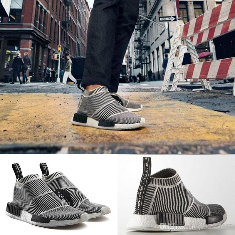Kids NMD City Sock Pk. Blackout Whiteout Primeknit S32191 Men Women Shoe NMD  City Sock Cs1 Primeknit White Grey Silver NMD Boost Buy Shoes Online Slip  On ... 2fa7eed3b