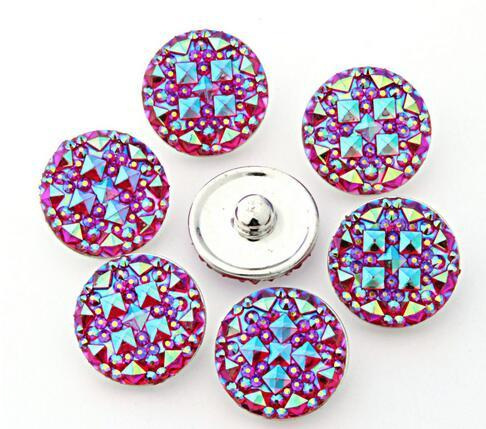 10 unids / lote de alta calidad de color mixto Ronda resina jengibre broches de cristal Redondas broches Pulseras aptos 12,18,20mm broches botones joyería kz22 noosa