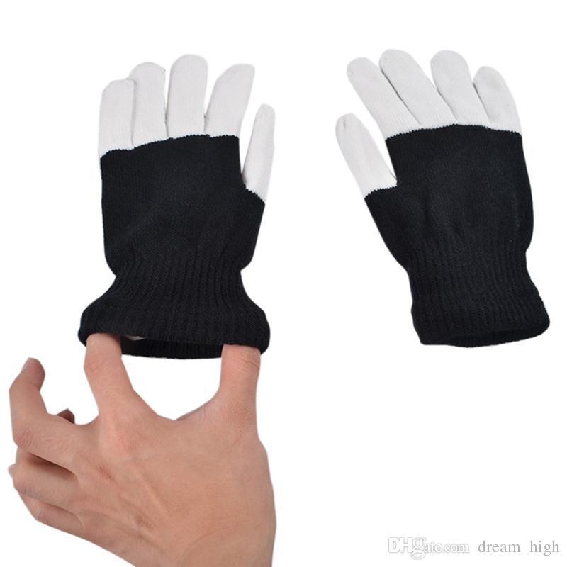 Haute Qualité 7Modes Magic Novelty Gant de Novelty Glove Flash Flash FINGERTIP GANTIP LED GLOOES UNISEX ÉCLAIRAGE GLOW GLOW Stick Gants de gants de mitaines chaudes