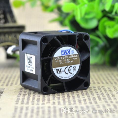 Genuine AVC DB03628B12S 36*36*28MM 12V 0.80A 3.6CM 4 wire high speed large wind fan