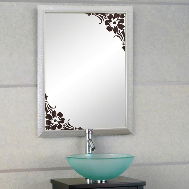 Bathroom Mirror Stickers lowest price removable showcase glass window bathroom mirror