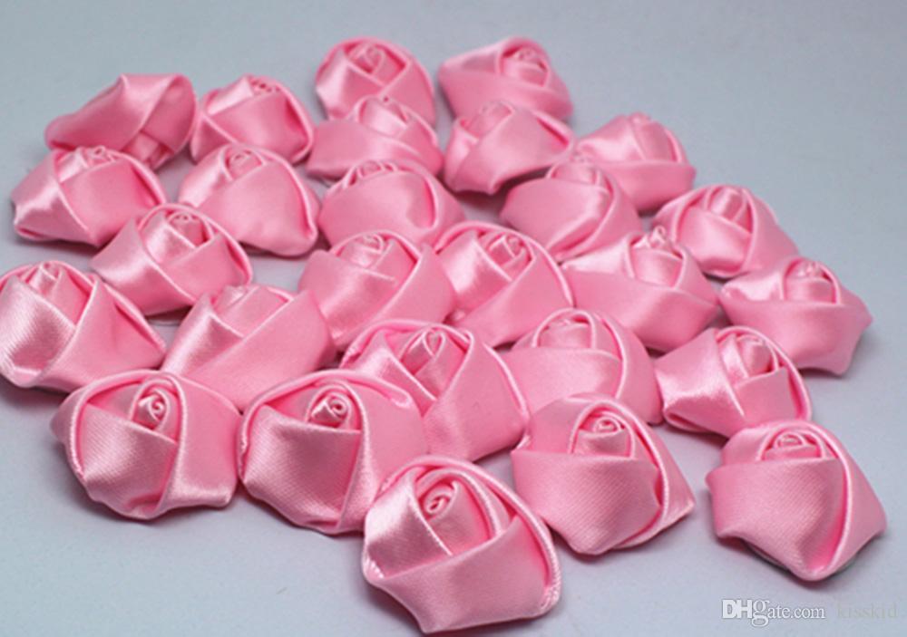 mancha fita rosa flor diy decoração do casamento decoração de casa applique decoração 3.5 cm