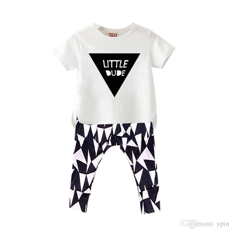 2019 Baby Boys And Girls Clothing Sets Triangle Printing T