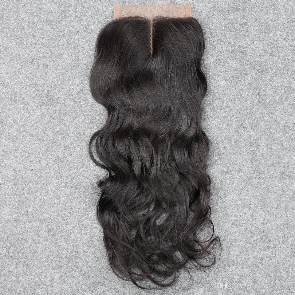 slove 3 Bundles Brazilian Water Wave Human Hair Weft Extensions Natural Color Hair Weave DHL Fast Shipping