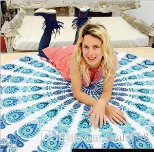 Mandala пляжного полотенца Круглого Пляж Blanket Polyster Printed Скатерть Bohemian Гобелен Yoga Mat Охватывает Бич шаль Wrap для пикника Коврик HH-C44
