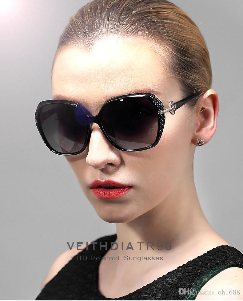 VEITHDIA New Arrival High-End LadiesTr90 Hd Polarized Sunglasses women Retro sun glasses and Accessories Female gafas 7021