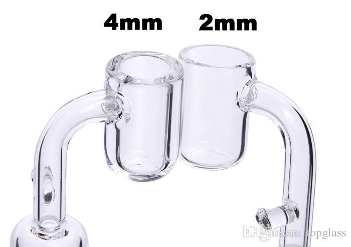4 MM Dicker Quarz Banger Enail Domeless Mit Haken Elektronische Quarz Banger Nagel Für 20mm Heizspule Glas Bongs Wasserleitungen Tupfen Ölbohrinseln
