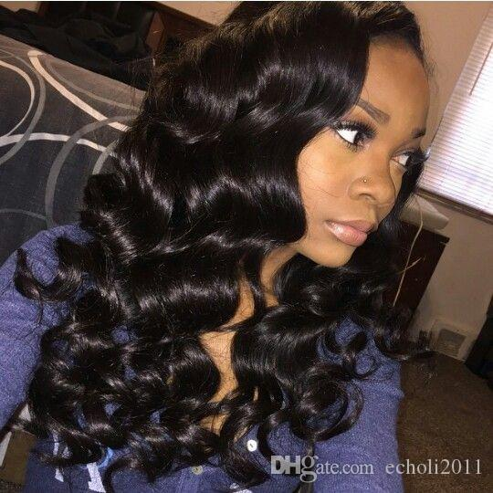 360 Lace Frontal Wig 180% Density loose Wave glueless full lace human hair wigs for black women pre plucked natural hairline