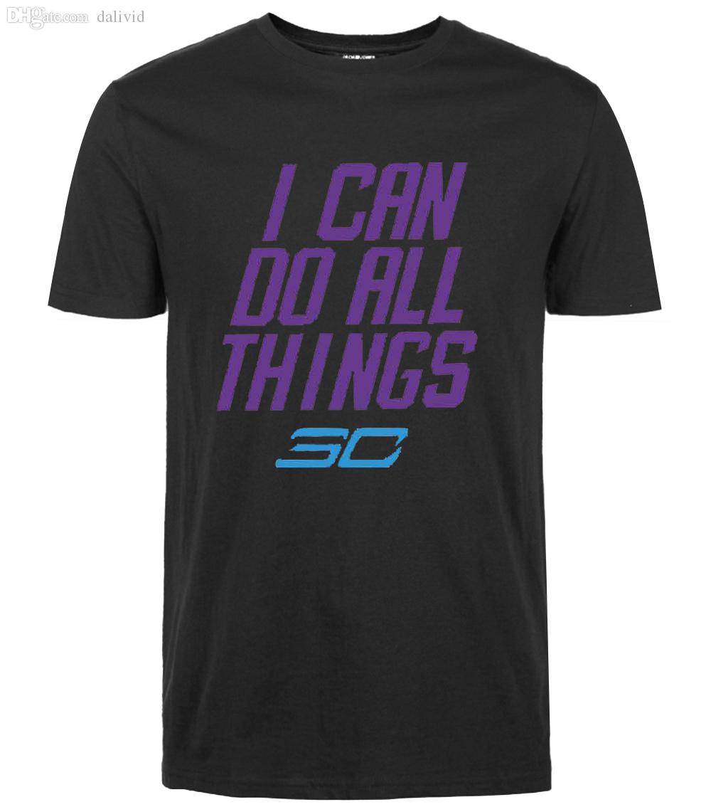 2c322046ab6d1f Wholesale-2016 Summer Steph Curry T Shirt I Can Do All Things ...