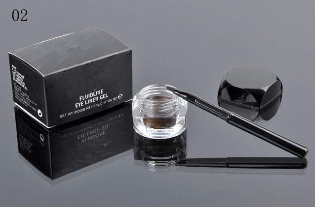 Eyes Eyeliner Makeup 5.5g M Fluidline Eye Liner Gel Brush Long Wear Eyes Makeup مستحضرات التجميل للماء أسود اللون البني