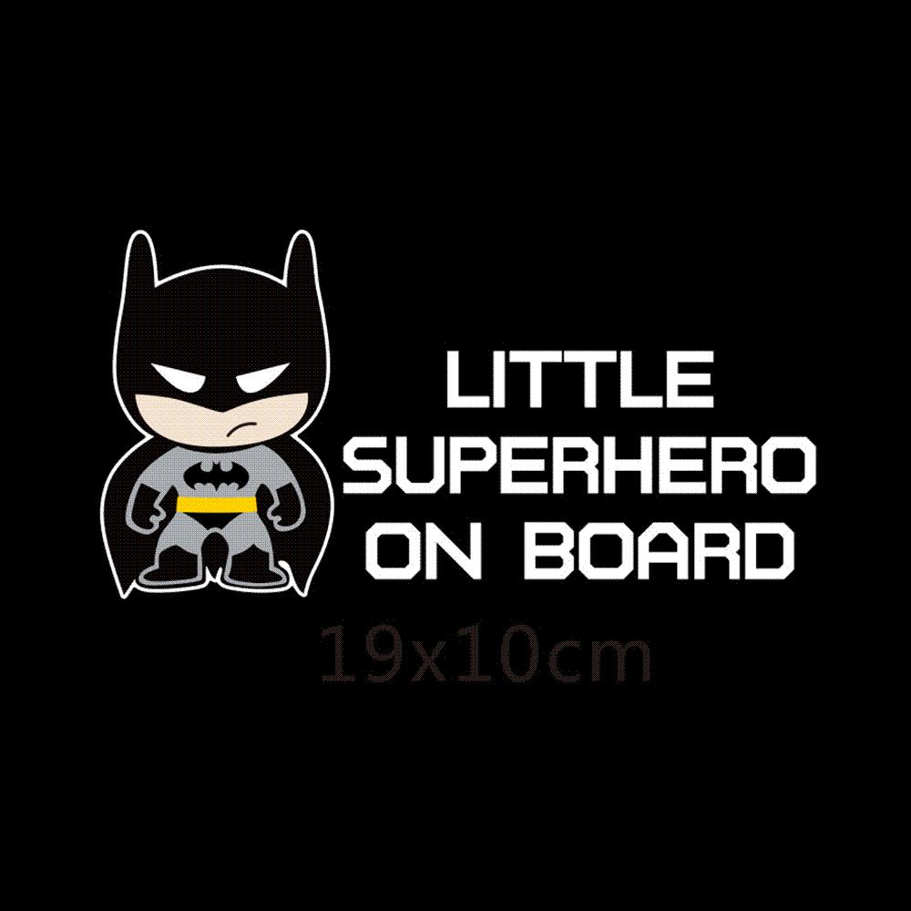 Little Superheroes Baby On Board Car-Styling Reflective Car Stickers/Decals  for Chevrolet Cruze Ford Focus Vw Hyundai Honda Kia Cheap Car Sticker Family  ...
