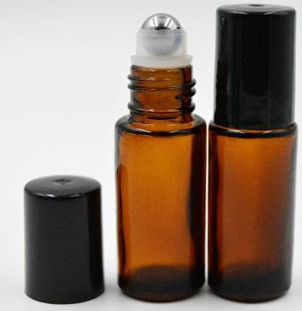 Portable 5ml Roll On Glass Bottle Fragrance Perfume Amber
