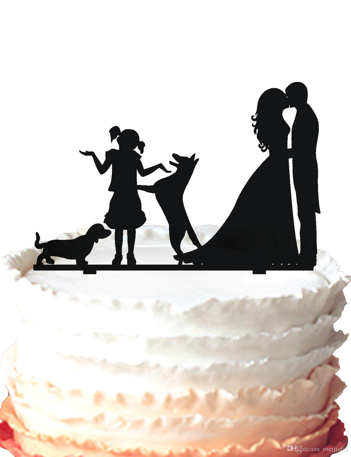 2018 Wedding Cake Topper Bride And Groom Kissing,One Girl With Two ...